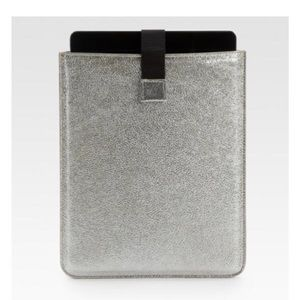 Jimmy Choo Tyler Glittery Leather iPad Sleeve NWT